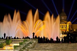 Font Màgica or Magic fountain show, Barcelona
