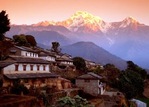 ghandrung village and annapurna south nepal himalaya