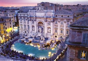 Aerial view - Trevi Fountain